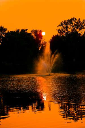 Fountain in a Canadian town (tillsonburg) Imagens