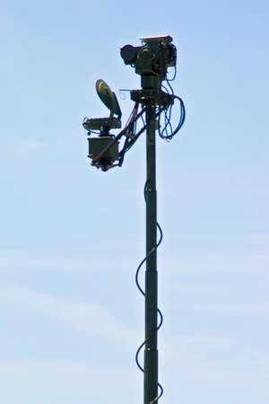 Military Antena deployed and listening Stock Photo - 7556569