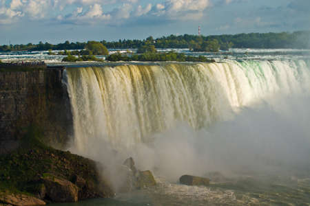 Niagara Falls in daytime light  (The Horseshoe falls) photo