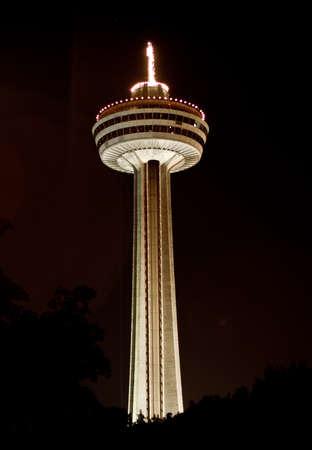 revolving restaurant tower (niagara falls ontario, canada) Stock Photo