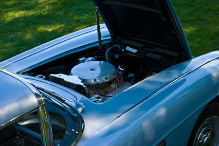 There is trouble under the hood of the car