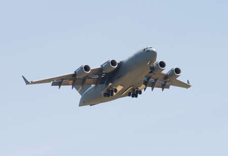 Transport Plane taking off at an Airshow photo