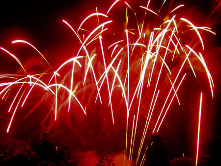 Colorful fireworks display for celebrations and joyous occasions Stock Photo