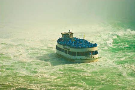 Niagara Falls Maid of the Mist Boat Tour Stock Photo