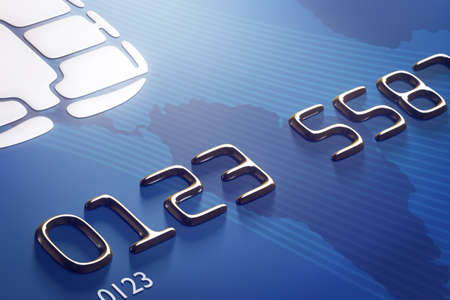 close up: Close-up credit card with shallow DOF (3d render)