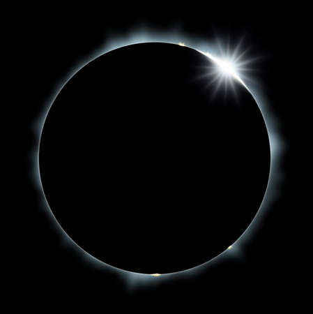 Full Eclipse of the Sun Banco de Imagens