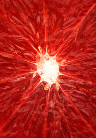 close up food: Close-up of a grapefruit  on the inside Stock Photo