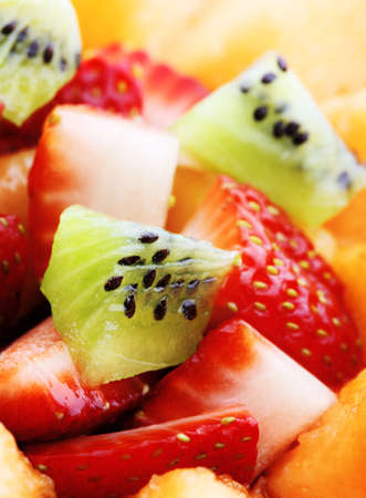 Close-up of Fresh Fruit Salad  photo