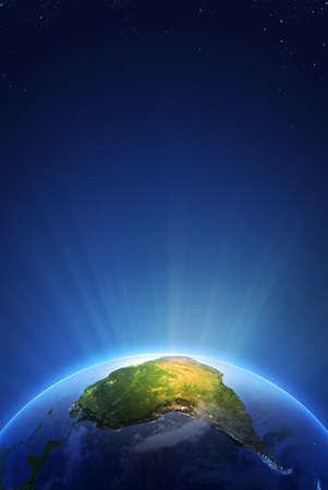 radiant: Earth Radiant Light Series Stock Photo