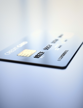 Credit Card on reflective table- 3d rendered shallow DOF Stock Photo - 16005818