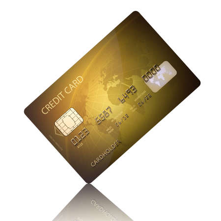 e card: Detail Textured Credit Card on white