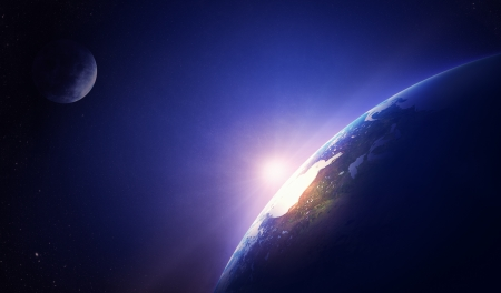 Earth sunrise North America  스톡 콘텐츠