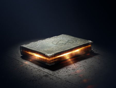 Magic Book avec des super pouvoirs - Création 3D Banque d'images - 33774205