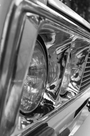 headlights: Sideview of car headlights
