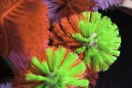 Toilet brush with red and green color