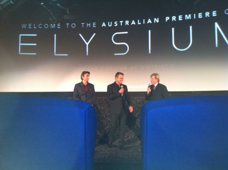 elysium: Elysium movie premier Sydney