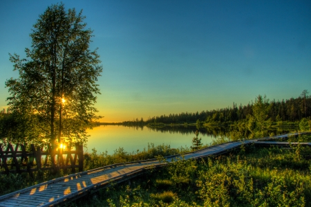 Lake Salla, Salla Finland Фото со стока - 15855562