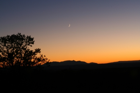 np: Sunset outside Arches N.P., Utah Stock Photo