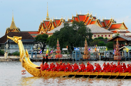 Royal Barge Suphannahongse,wat phra kaew,bangkok Thailand Stock Photo
