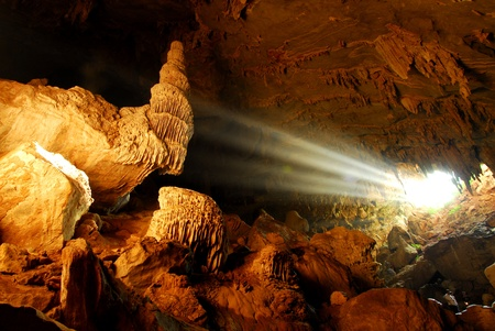 Sunbeam in cave photo