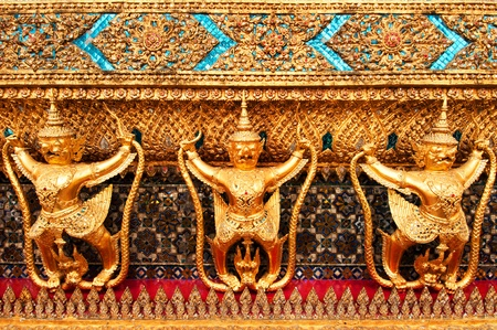 The outside decorations of Wat Phra Kaew. photo