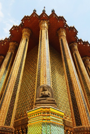 Buddha statue at Wat Phra Kaew , Bangkok,Thailand photo