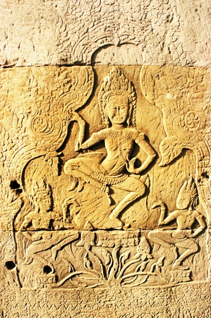 Cambodia ancient khmer stone carvings angkor wat temples,Cambodia Asia                            photo