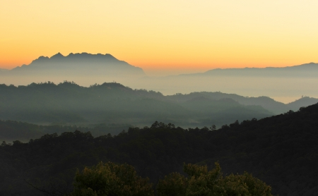Chiang Mai morning on hilltop view,Thailand  photo