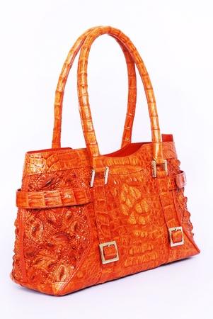 Natural Leather Handbag Isolated On White Background Stock Photo - 11969118