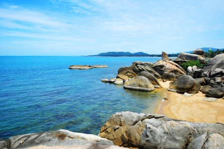 Koh Samui,The picturesque pile of rocks on the beach,Thai island Stock Photo