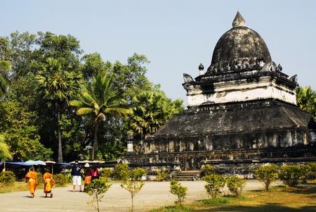 Old temple at luang prabang in laos Editorial