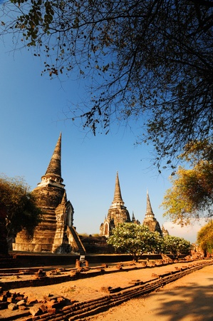 Pagoda ancient temple,Ayutthaya,thailand photo