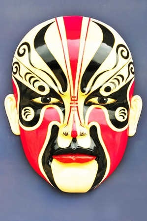 Traditional chinese opera mask isolated on white