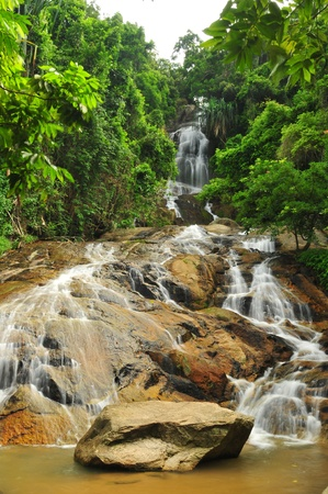 Waterfall in rain forest.thailand Stock Photo - 12630094