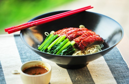 Asian Peking Duck noodle with Sauce