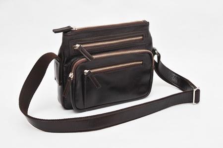 black hand bag on white background Stock Photo - 12628910
