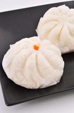 chinese bun on White background  photo