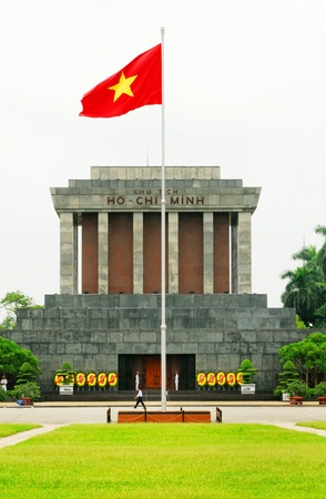 Ho Chi Min mausoleum in Hanoi  Vietnam  Editorial