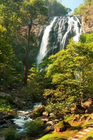 Khlong Lan,waterfall in Thailand photo