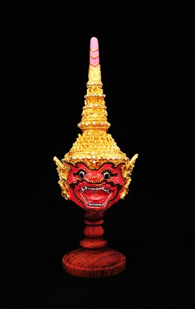 khon: Native Thai style mask, use in royal performance, Khon