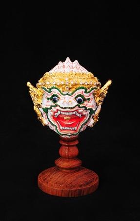 Native Thai style mask, use in royal performance, Khon   photo