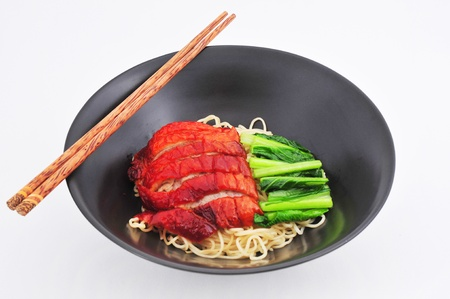 Roasted Duck noodle with Sauce  chinese cuisine