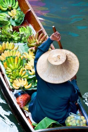 Damnoen Saduak Floating Market near Bangkok, Thailand Stok Fotoğraf