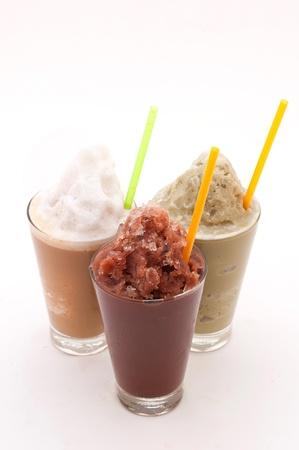 ice crushed: Chocolade en koffie Smoothie Stockfoto