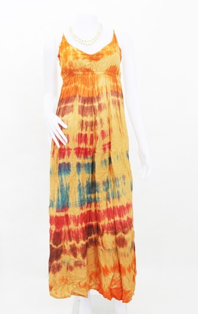 maxi dress: fashion maxi dress on mannequin  Stock Photo
