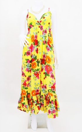 stria: fashion maxi dress on mannequin  Stock Photo