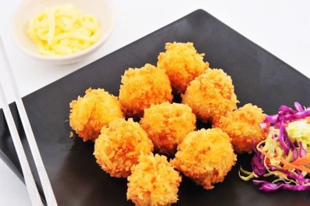 Frito las alb�ndigas con mayonesa photo
