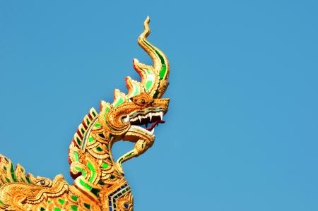 naga china: Thai dragon or king of Naga statue  Stock Photo