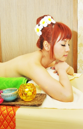young woman in a spa photo