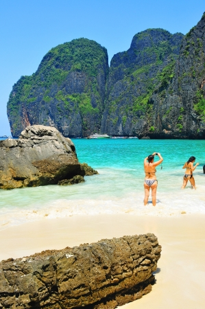 Maya bay of Phi-Phi island,Krabi,Thailand photo